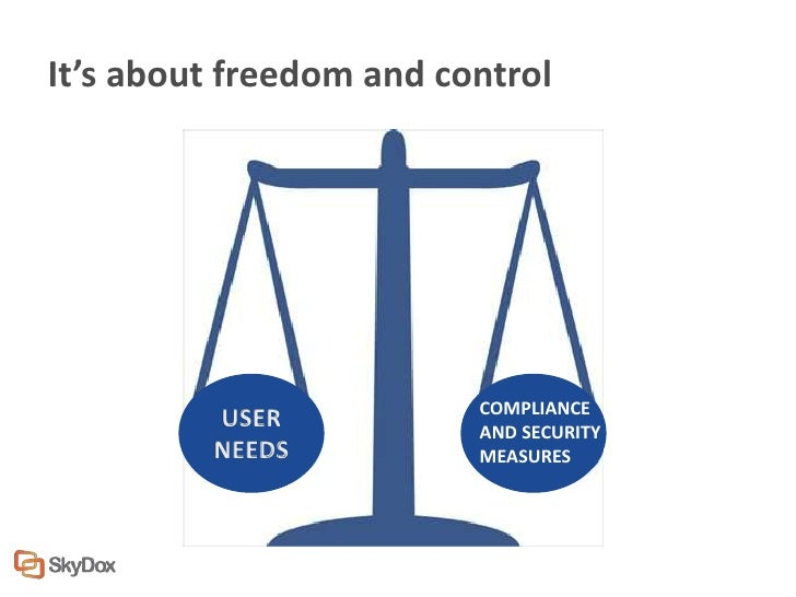 It's about freedom and control                         COMPLIANCE                         AND SECURITY                    ...