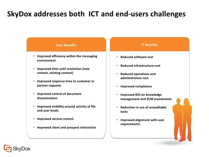 SkyDox addresses both ICT and end-users challenges                        User Benefits                                   ...