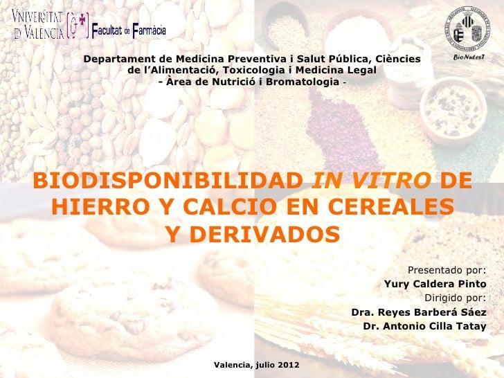 Departament de Medicina Preventiva i Salut Pública, Ciències           de l'Alimentació, Toxicologia i Medicina Legal     ...