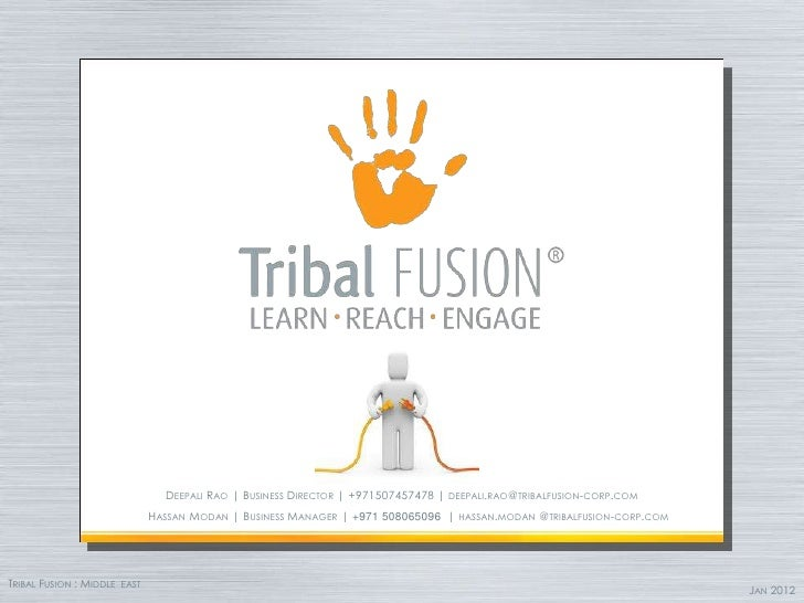 DEEPALI RAO | BUSINESS DIRECTOR | +971507457478 | DEEPALI.RAO@TRIBALFUSION-CORP.COM                              HASSAN MO...