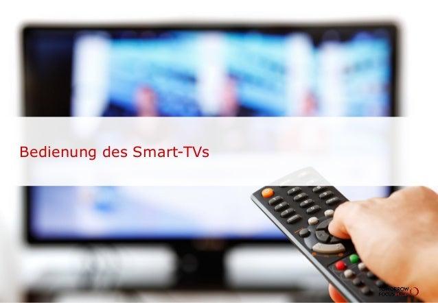Bedienung des Smart-TVs