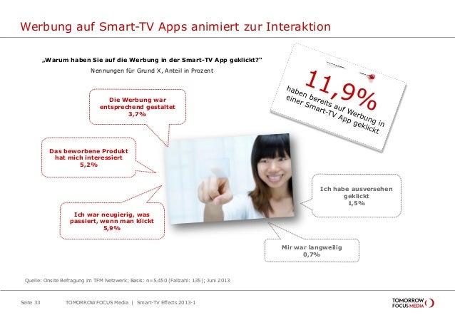 """Werbung auf Smart-TV Apps animiert zur Interaktion Seite 33 """"Warum haben Sie auf die Werbung in der Smart-TV App geklickt?..."""