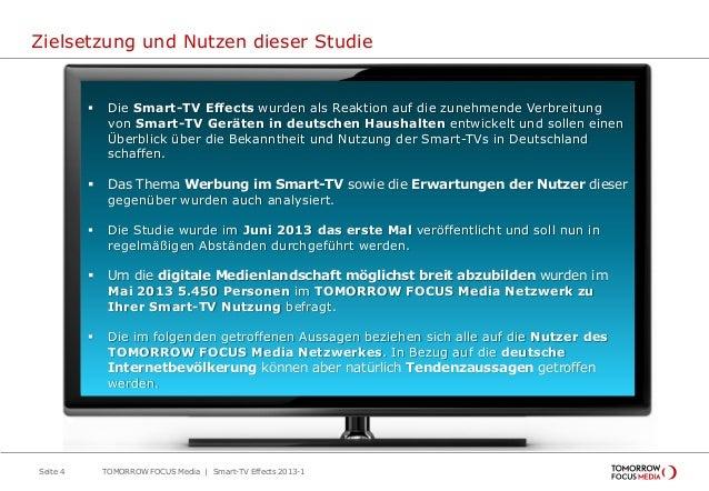 Zielsetzung und Nutzen dieser Studie  Die Smart-TV Effects wurden als Reaktion auf die zunehmende Verbreitung von Smart-T...