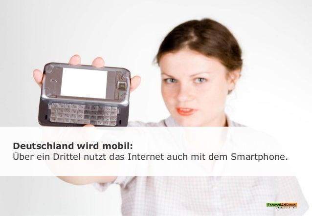 Deutschland wird mobil: Über ein Drittel nutzt das Internet auch mit dem Smartphone.