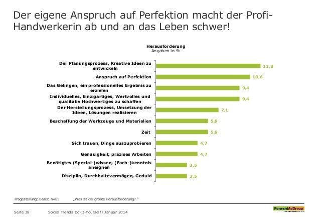 Der eigene Anspruch auf Perfektion macht der Profi- Handwerkerin ab und an das Leben schwer! Seite 38 Social Trends Do-It-...