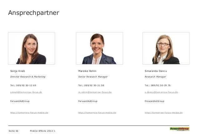 Ansprechpartner Sonja Knab Director Research & Marketing Tel.: 089/92 50-12 69 s.knab@tomorrow-focus.de ForwardAdGroup htt...