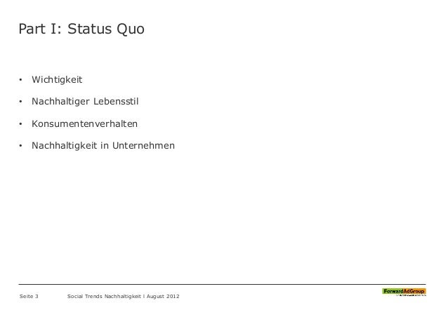 FORAG - Social Trends 2012 - Nachhaltigkeit Slide 3