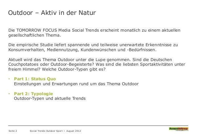FORAG - Social Trends 2012 - Outdoor Sport Slide 2