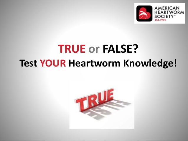 TRUE or FALSE? Test YOUR Heartworm Knowledge!