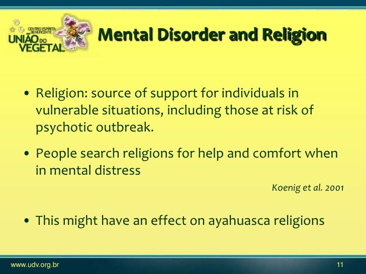 the implications and impact of spirituality in mental illness and psychiatric disability Chronic mental illness usually decreased social support has a negative impact on mental hearing voices: explanations and implications psychiatric.