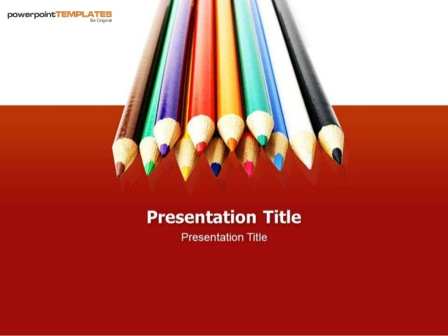 Colors Pencil PowerPoint Templates with Backgrounds