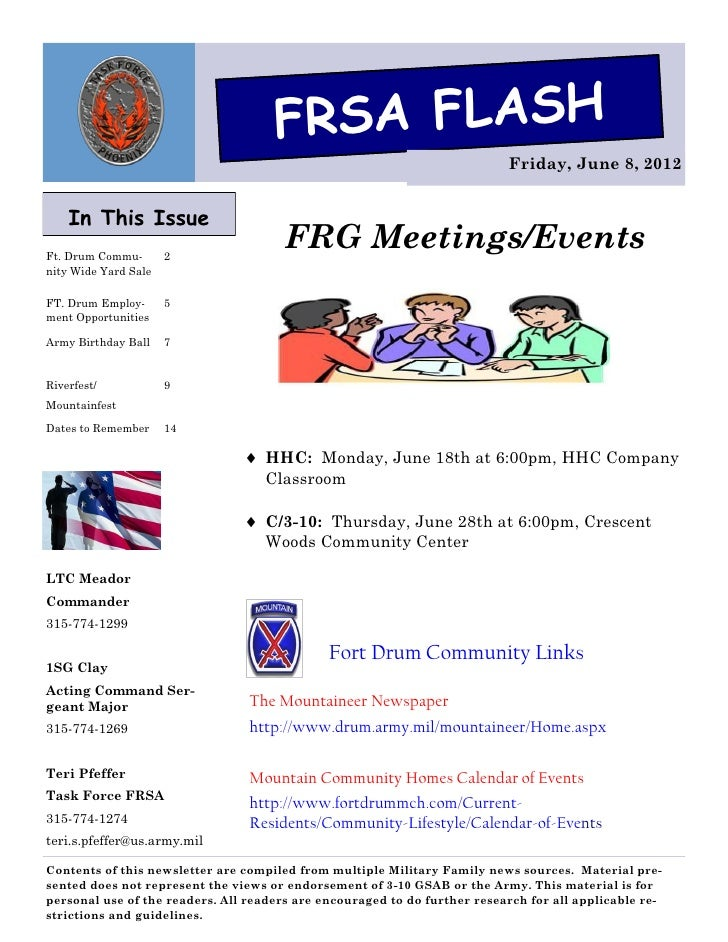 FRSA FLASH                                                                           Friday, June 8, 2012    In This Issue...