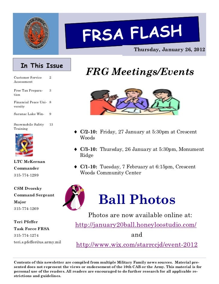 FRSA FLASH                                                                Thursday, January 26, 2012   In This IssueCustom...