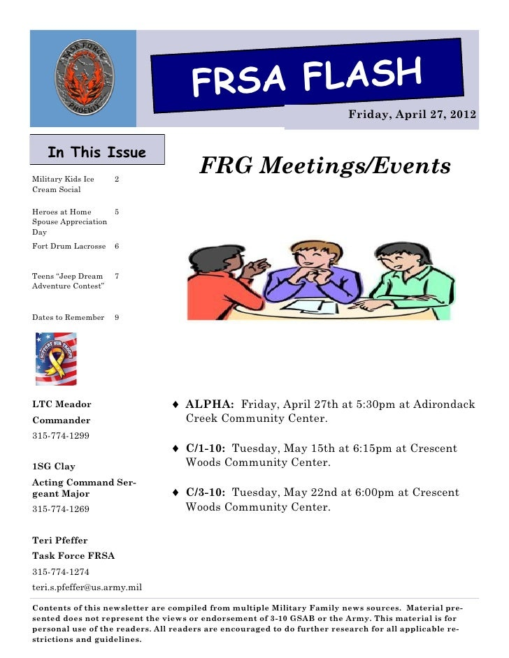 FRSA FLASH                                                                          Friday, April 27, 2012    In This Issu...