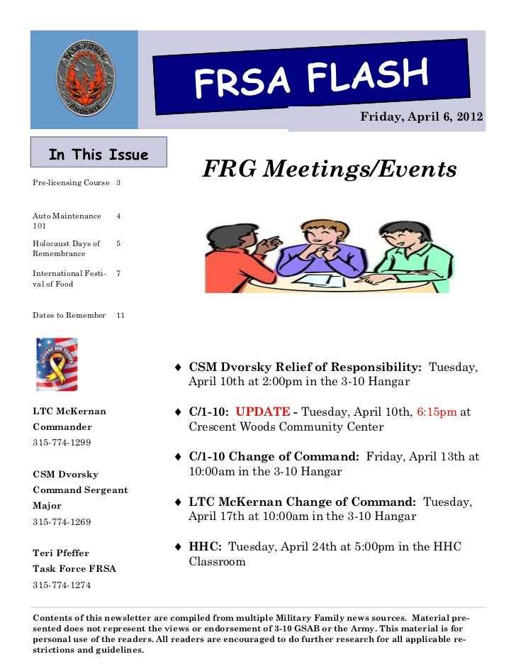 FRSA FLASH                                                                           Friday, April 6, 2012    In This Issu...