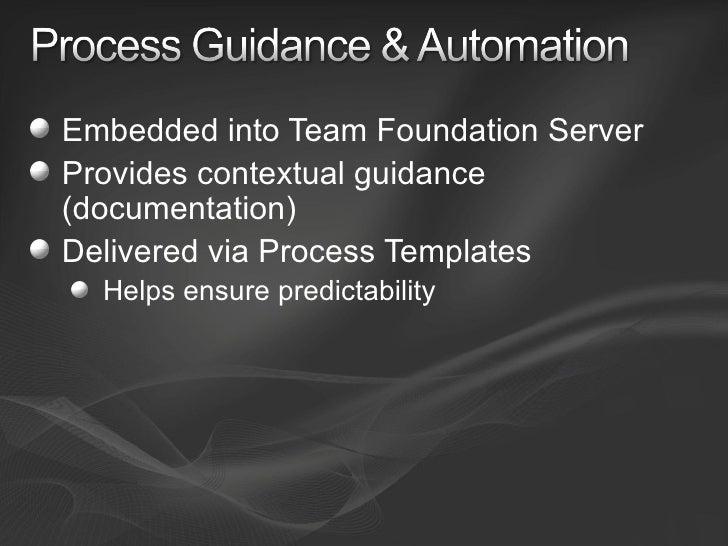 Team foundation server 2008 overview for Team foundation server process templates