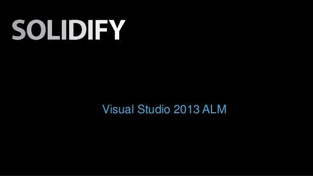 Visual Studio 2013 ALM