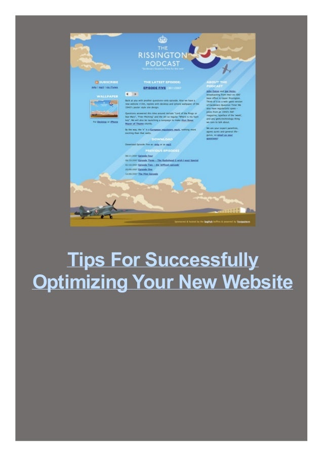 Tips For Successfully Optimizing Your New Website