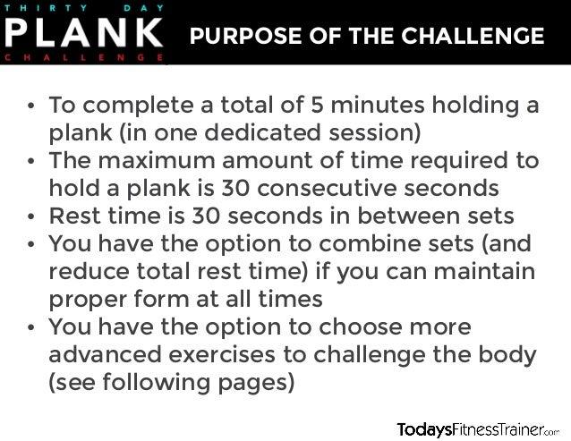 30 Day Plank Challenge Slide 3