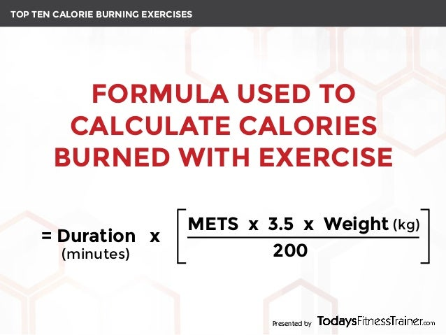 TOP TEN CALORIE BURNING EXERCISES Presented By 2