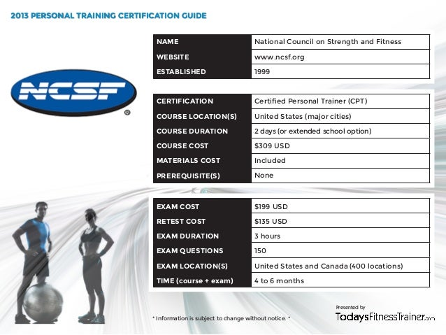 2013 Personal Training Certification Guide