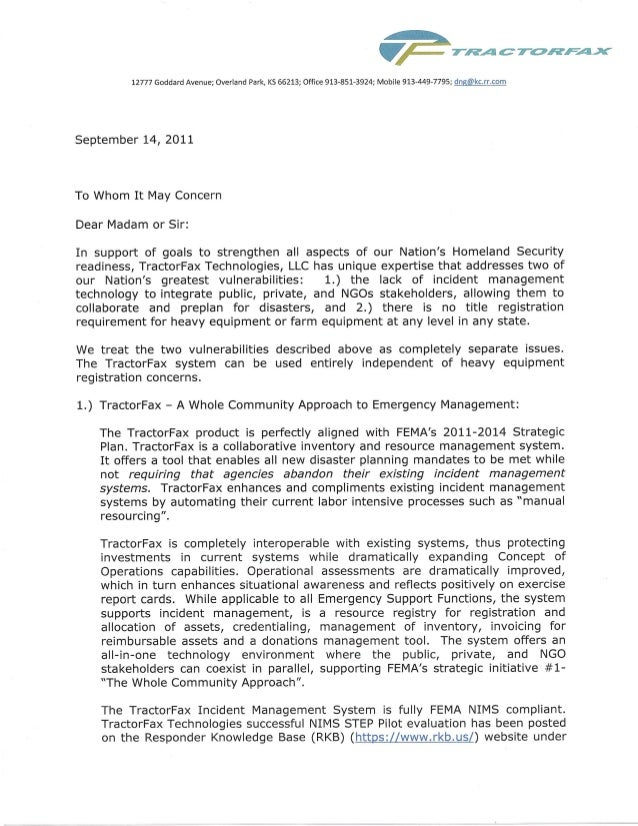 National preparedness system component to whom it may concern letter national preparedness system component to whom it may concern letter copy spiritdancerdesigns Image collections