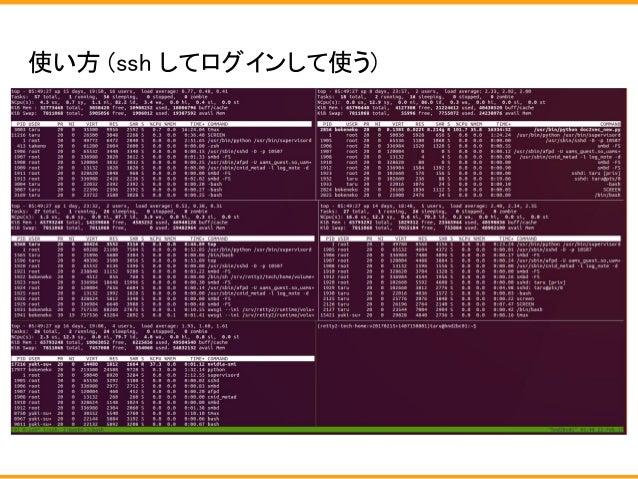 使い方 (ssh してログインして使う)