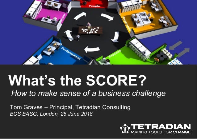 How to make sense of a business challenge What's the SCORE? Tom Graves – Principal, Tetradian Consulting BCS EASG, London,...