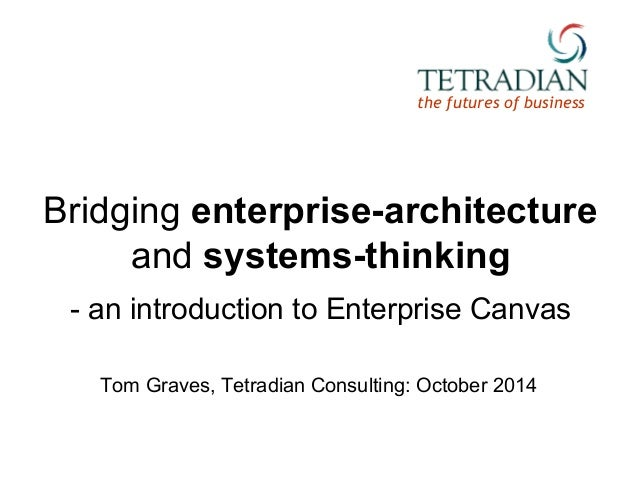 the futures of business  Bridging enterprise-architecture  and systems-thinking  - an introduction to Enterprise Canvas  T...