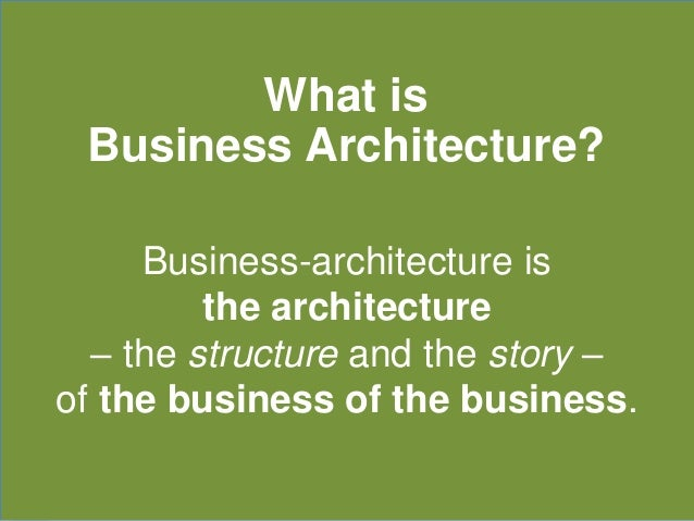 Business Architecture: Upwards, Downwards, Sideways, Back Slide 3