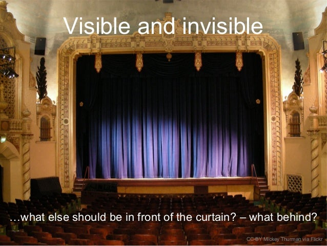 Visible and invisible …what else should be in front of the curtain? – what behind? CC-BY Mickey Thurman via Flickr