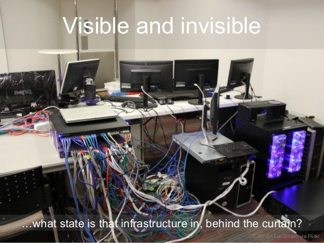 Visible and invisible …what state is that infrastructure in, behind the curtain? CC-BY-SA LanSmash via Flickr