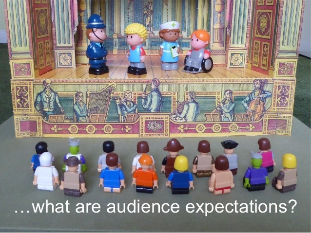 …what are audience expectations?