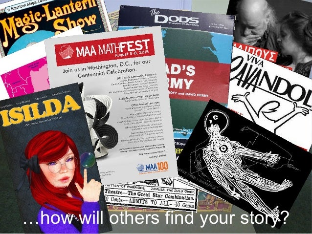 …how will others find your story?