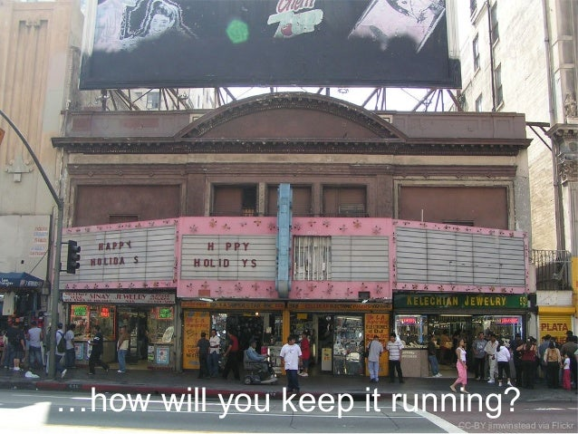 …how will you keep it running?CC-BY jimwinstead via Flickr