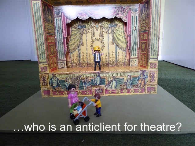 …who is an anticlient for theatre?