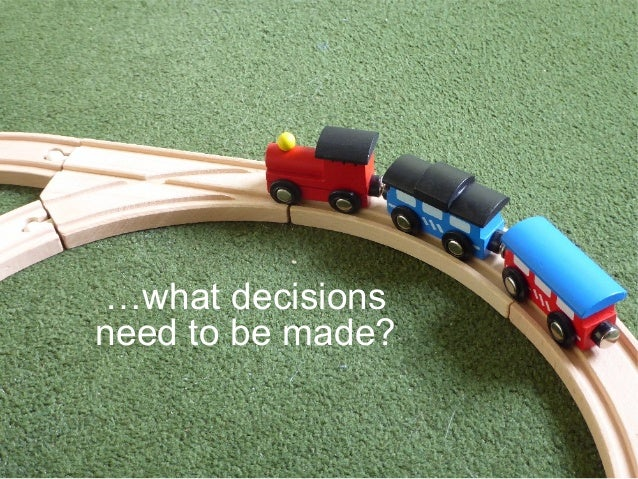 …what decisions need to be made?