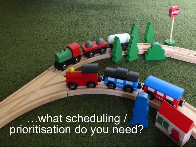 …what scheduling / prioritisation do you need?