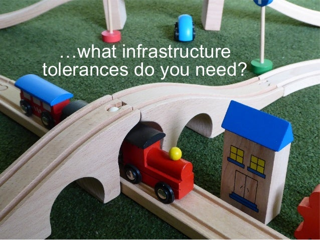 …what infrastructure tolerances do you need?