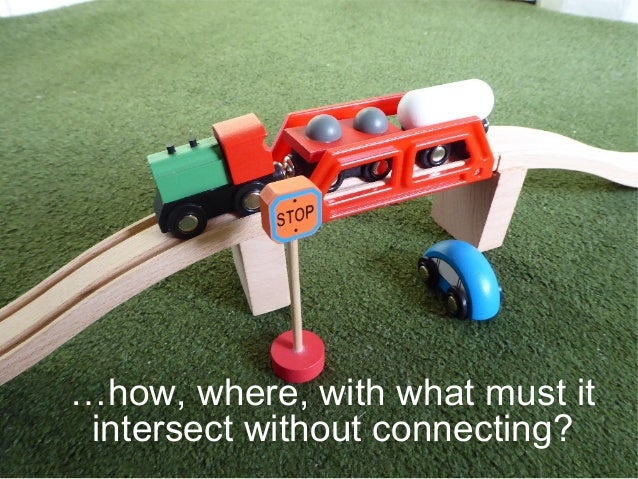 …how, where, with what must it intersect without connecting?