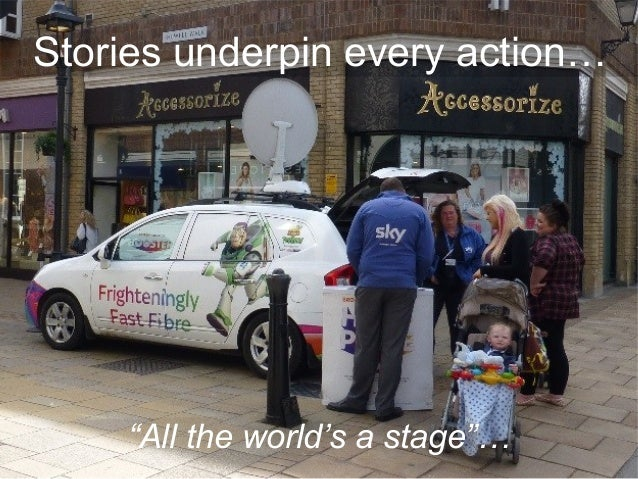 """""""All the world's a stage""""… Stories underpin every action…"""
