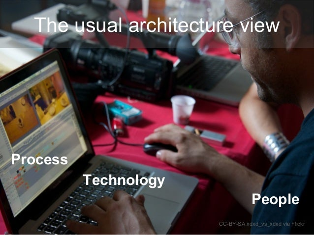 Technology CC-BY-SA xdxd_vs_xdxd via Flickr Process People The usual architecture view