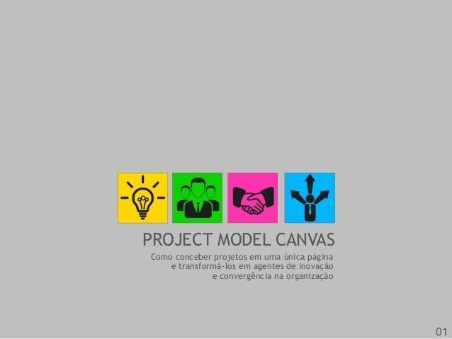 PROJECT MODEL CANVAS  Como conceber projetos em uma única página  e transformá-los em agentes de inovação  e convergência ...