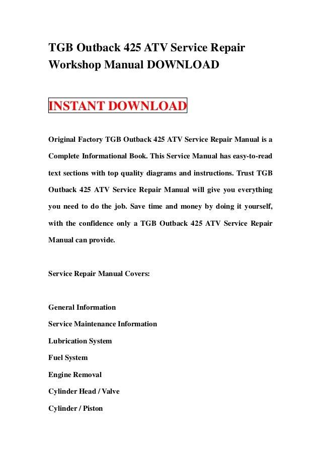 tgb atv blade 250 factory service repair manual download pdf
