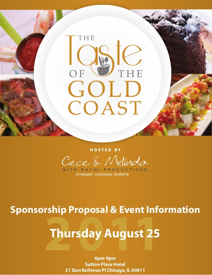 HOSTED     BYSponsorship Proposal & Event Information        Thursday August 25                         6pm-9pm           ...