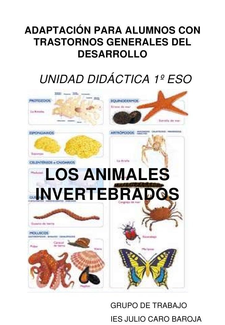 ADAPTACIÓN PARA ALUMNOS CON  TRASTORNOS GENERALES DEL         DESARROLLO    UNIDAD DIDÁCTICA 1º ESO       LOS ANIMALES  IN...