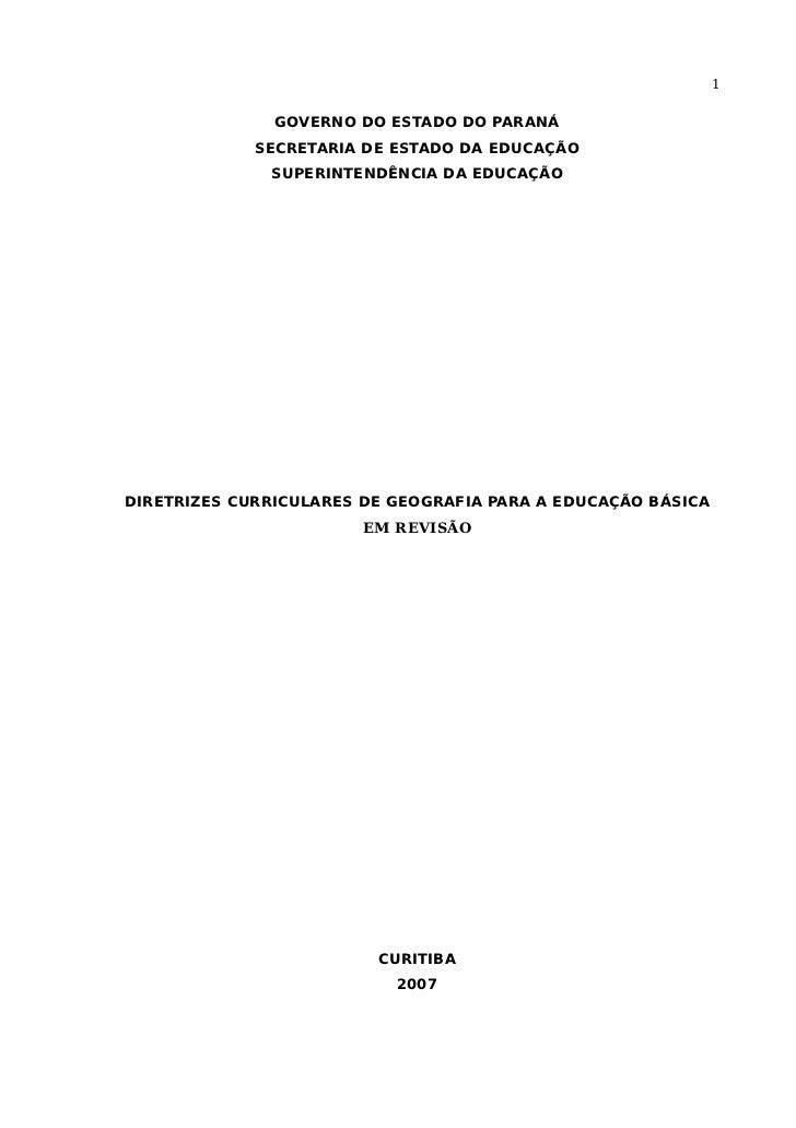 1                 GOVERNO DO ESTADO DO PARANÁ              SECRETARIA DE ESTADO DA EDUCAÇÃO               SUPERINTENDÊNCIA...