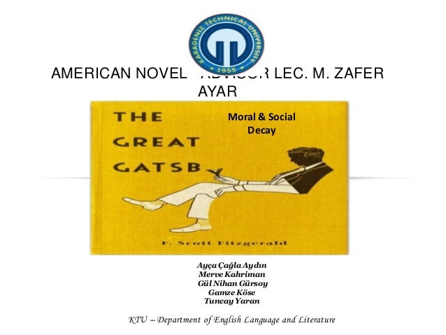 tgg moral issue Delve into the themes of fitzgerald's the great gatsby with a complete theme guide that discusses culture, the american dream, reality, moral corruption, and more.