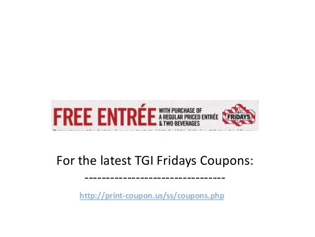 picture relating to Tgifridays Printable Coupons referred to as Tgi friday discount coupons 2018 :