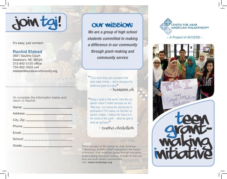 Join TGI!                                       Our Mission:                                            We are a group of ...
